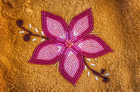 beadwork flowers beaded flower on moose hide photograph by payer