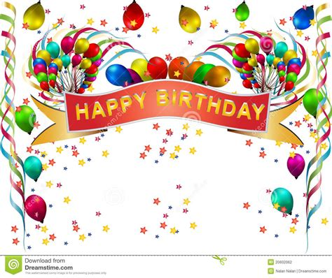 imagenes hd feliz cumpleaños globo del cumplea 241 os ilustraci 243 n del vector ilustraci 243 n