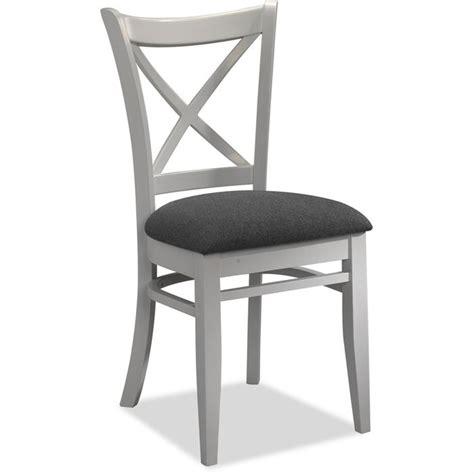 chaise bois et blanc lot de 4 chaises tissus gris et bois blanc achat vente