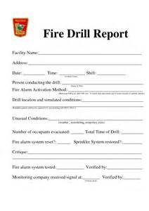 Emergency Drill Report Template best photos of drill template drill report form drill log template and