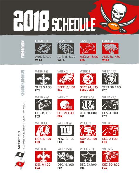 Chicago Bears Printable Schedule 2017