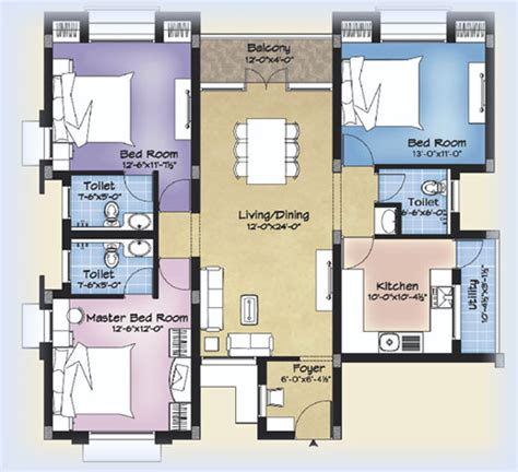 apartment design plan design for apartment floor plans 3 bedroom images 06 small room decorating ideas