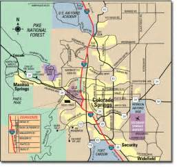 colorado springs co map colorado springs colorado travel pal international
