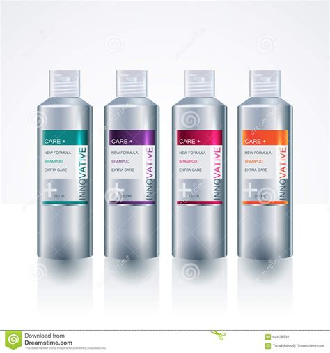 Packaging Design Template For Body Care Bottle Stock Vector Image 64828592 Bottle Design Template