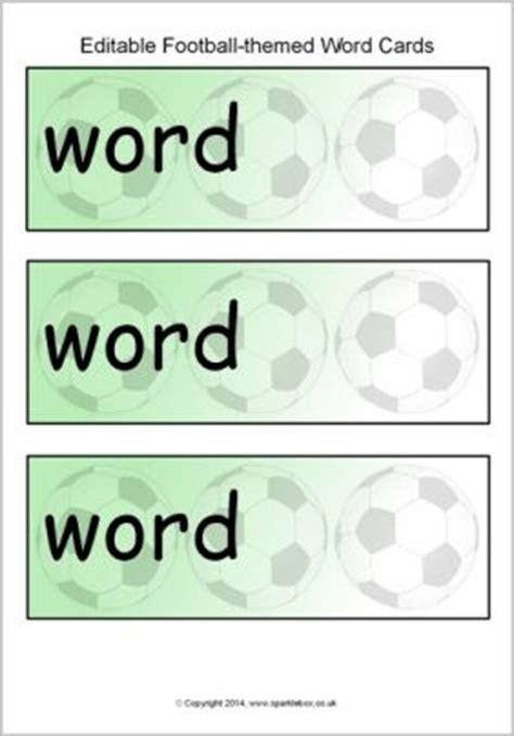 editable football themed word cards template sb10913