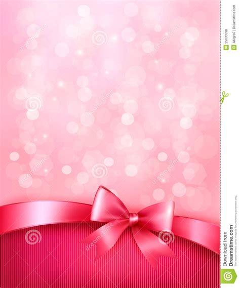 wallpaper pink elegant elegant holiday background with gift pink bow stock vector