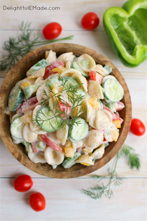 garden vegetable pasta salad create create the last link the