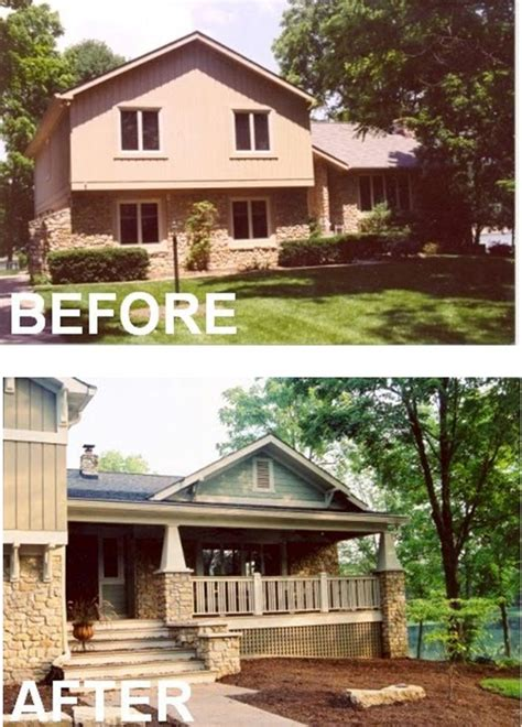 trilevel house wrap deck tri level homes pinterest