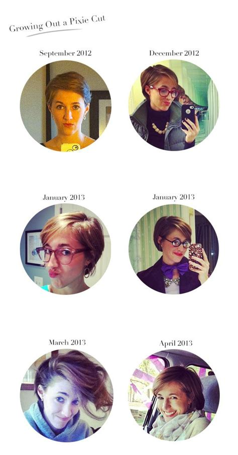 stages of growing hair out 20 best images about growing out a pixie looks on