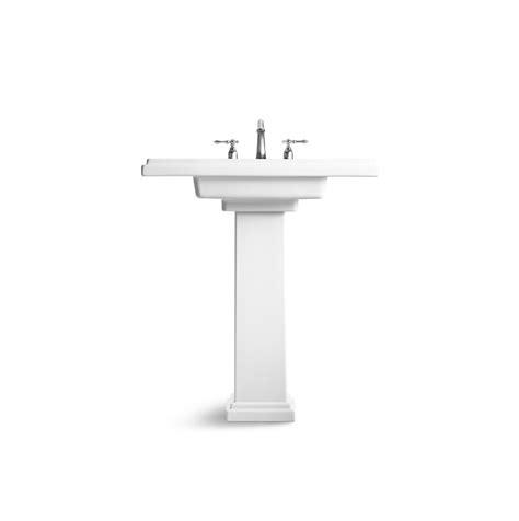 kohler k 2845 8 0 tresham 30 inch pedestal bathroom sink with 8 inch widespread