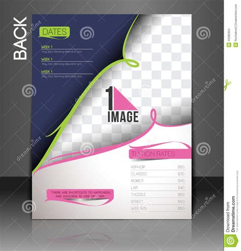 design a dance flyer dance academy flyer stock vector image 43385904