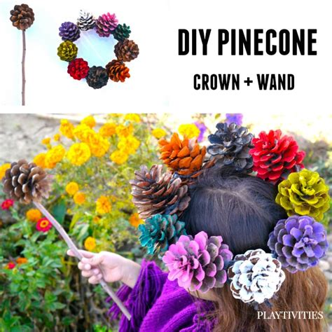 how to make pine cone flowers flower power pinterest pinecone crafts kids can play with playtivities
