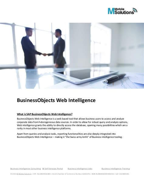 business objects careers business objects web intelligence