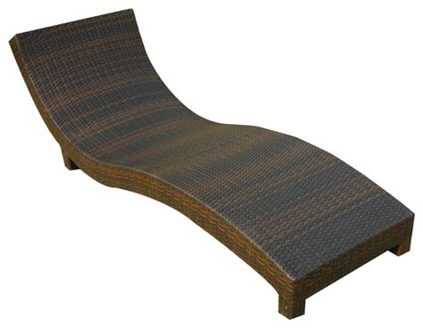 Cabo Outdoor Wicker Chaise Lounge Chair Tropical