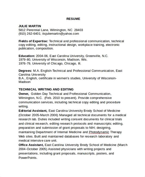 awesome collection of film editor resume sample copy editor resume