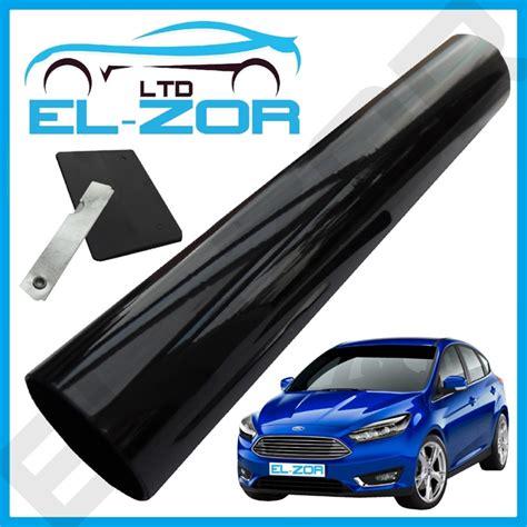 black windscreen tint shade kit sunvisor sun