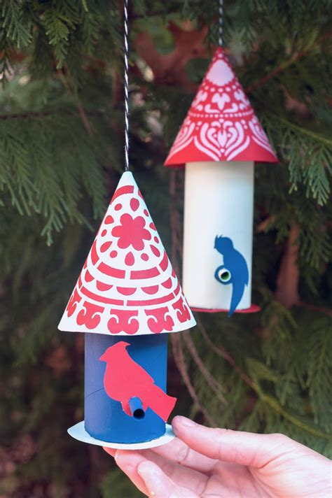 paper craft birds   christmas tree handmade charlotte