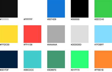 html color color palette documentation for living style guides