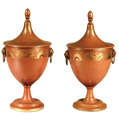 Urn Planters For Sale by Pair Of Tole Covered Urns For Sale Antiques Classifieds