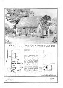cape cod blueprints file standard floor plans for a cape cod cottage ca 1940