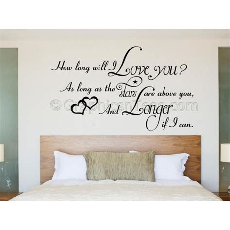 Wallsticker Sepeda I You bedroom wall sticker how will i you quote