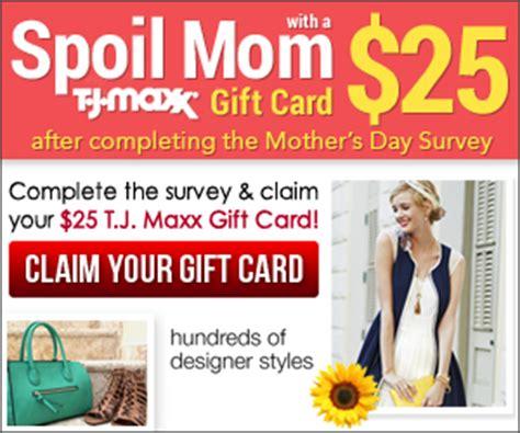take a brief survey get your 25 tj maxx gift card free sle freak