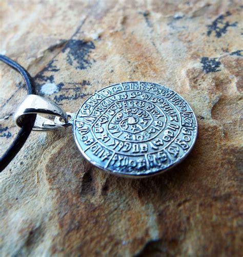 Handmade Jewelry Greece - sterling silver phaistos pendant