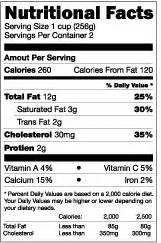 nutrition facts template 3mf nutritional facts label template
