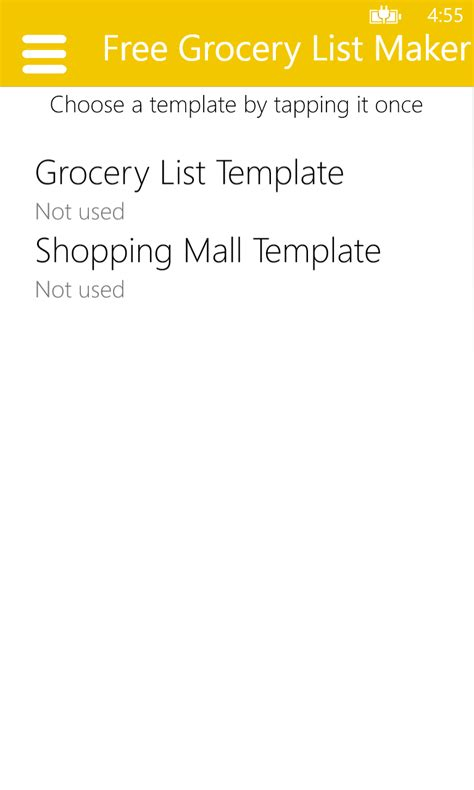 printable grocery list app free grocery list maker free windows phone app market