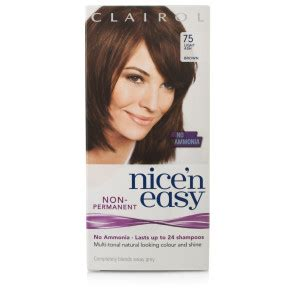 permanent ash brown hair color ash brown hair dye l clairol lasting colour light ash brown 75 beauty 163 4 49
