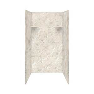 shop style selections silver mocha solid surface shower