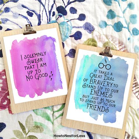 Design My Bedroom harry potter watercolor quote printables how to nest for