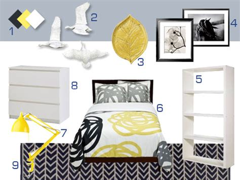 white yellow and grey bedroom mood board making a gray white and yellow bedroom young house love