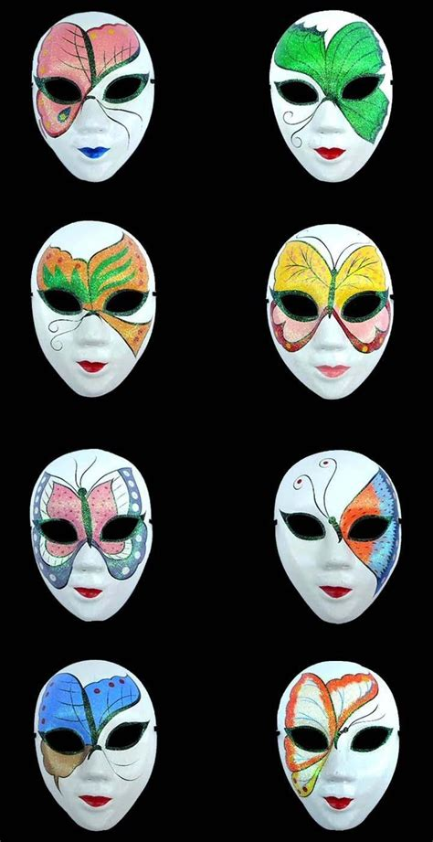 How To Decorate A Mask by Butterfly Masquerade Masks For Paper Pulp