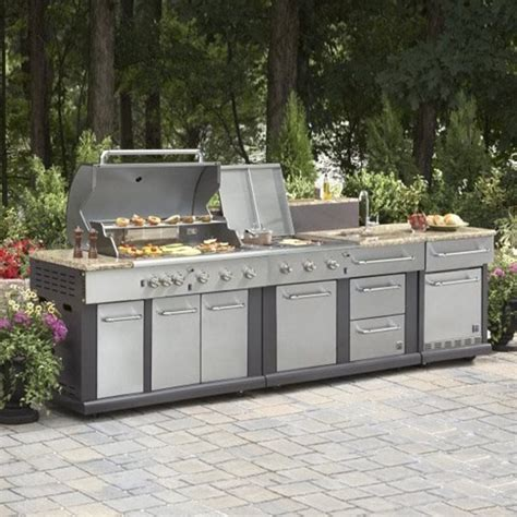 outdoor küchen lowes master forge grills at lowe s drop in for outdoor kitchens