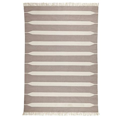 striped dhurrie rugs bark paddle stripe cotton dhurrie serena taupe blue decor