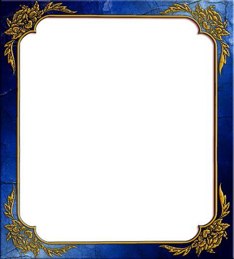frame design company blue photo frame with corner design png image