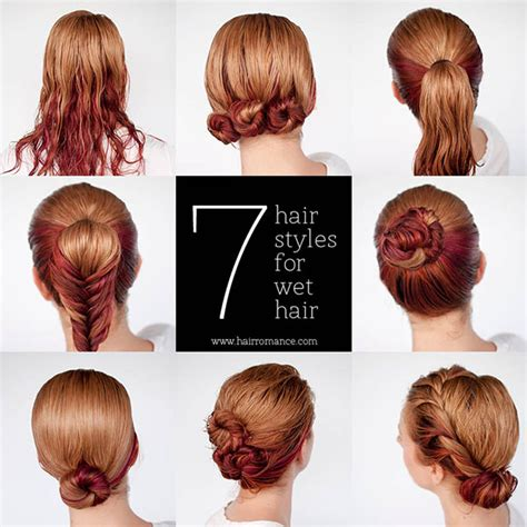 quick and easy hairstyle tutorials quick hairstyle for wet hair alldaychic