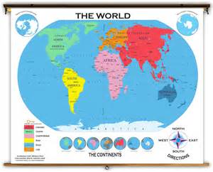 Classroom World Map by World Starter Classroom Map From Academia Maps