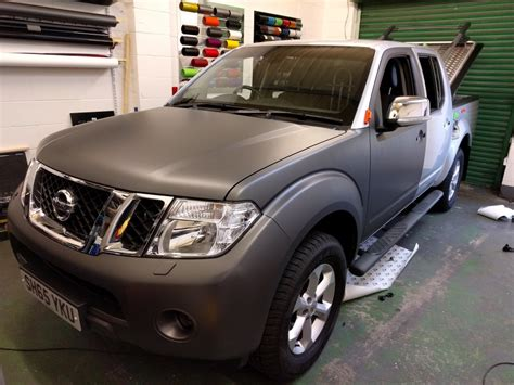 grey nissan nissan navara 3m matt metallic grey akwraps vehicle