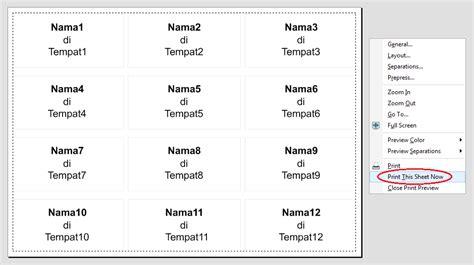 cara membuat label undangan dalam jumlah banyak cara print label undangan dhika dwi pradya
