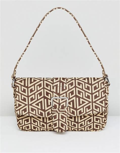 asos design  shoulder bag  monogram asos