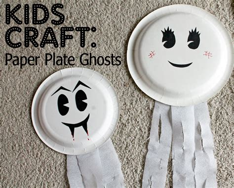 How To Make Paper Ghost For - paper plate ghosts 02 who arted
