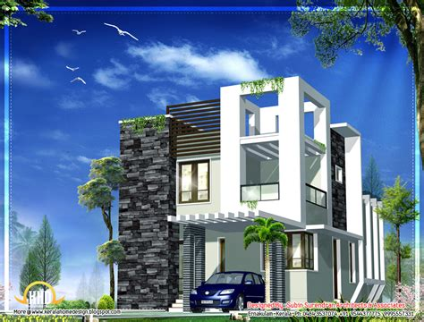 sq ft nice contemporary house kerala home design floor sq april 2012 kerala home design and floor plans