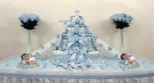 Tier boys baby shower diaper cake centerpiece gift decorations favor