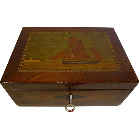 jewelry desk antique house jewelry or desk box c 1860