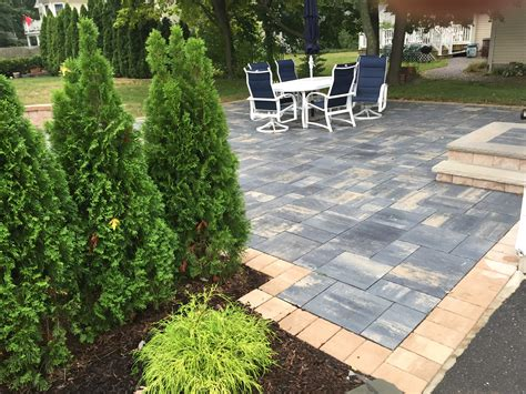 Patio Pavers Ta Paver Patio And Bushes Tad Landscape Design