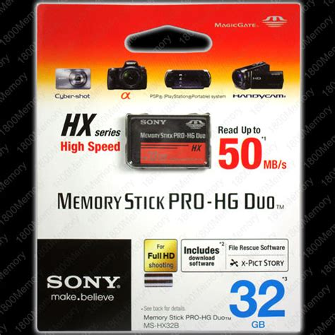 Dijamin Sony 8gb Memory Stick Pro Duo Hx genuine sony 8gb memory stick pro hg pro duo hx psp 50mb s high speed magicgate 740617034837 ebay