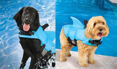 zwemvest hond haai shark fin dog life jacket