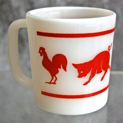 animal mug hazel atlas kiddie ware animal mug from